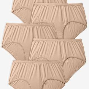 Comfort Choice 5 Pack Pure Cotton Full Cut Briefs